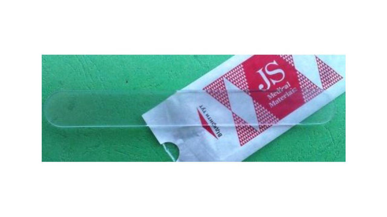 Шпатель отоларингологический JS пластиковый, прозрачний